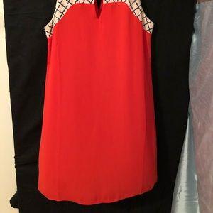 09f6ee94 Thiml Dresses   Large Rose Shift Dress With Monogram Detail   Poshmark
